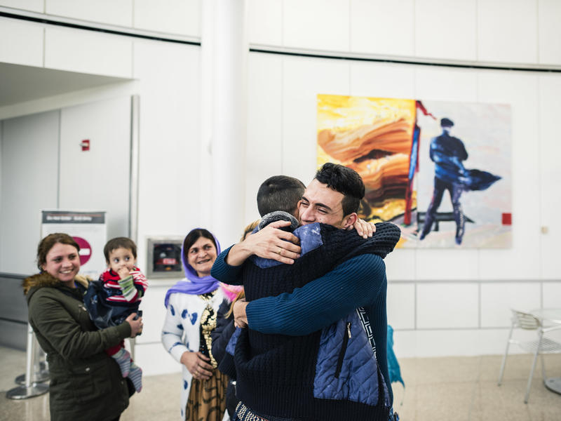 Yazidi family reunites in Seattle after Trump's travel ban