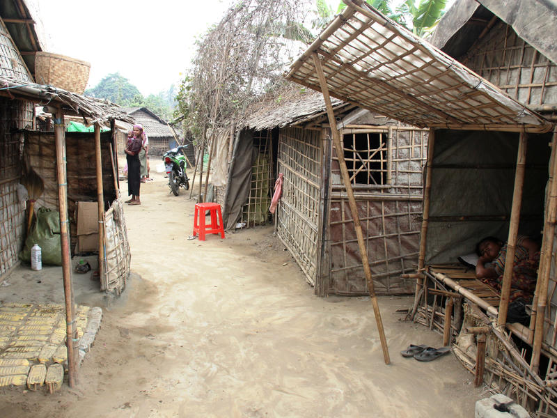 Shared longhouses in Sittwe, Myanmar