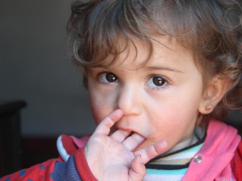 A Syrian child living in Idlib