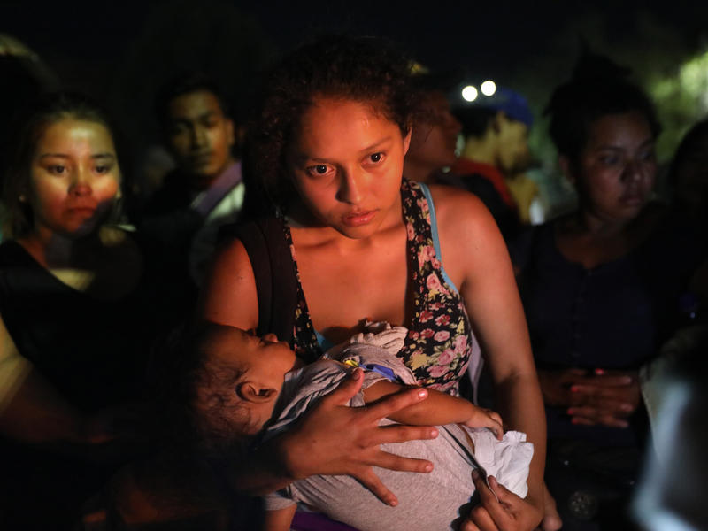 Central American asylum seekers traveling to the U.S.-Mexico border.