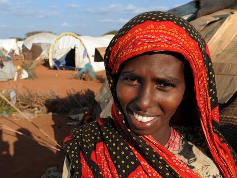 A woman at Dadaab refugee camp in Kenya