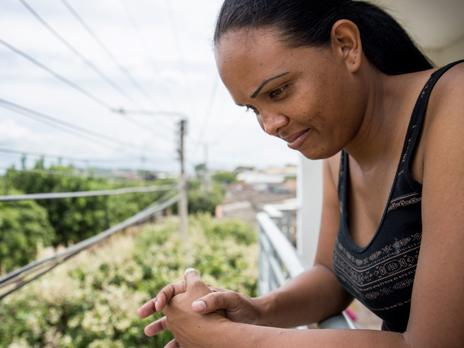 Cibel is a mother from Venezuela who walked seven days to Colombia to support her family.