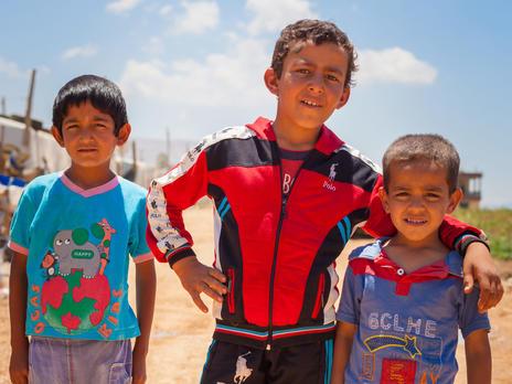 Three Syrian boys in Lebanon