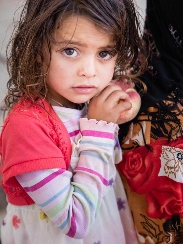 Young Syrian girl in Jordan