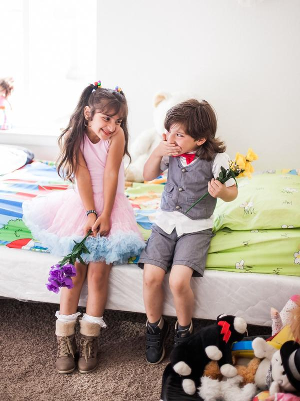 Malak and Abdullah in their home in Oakland.
