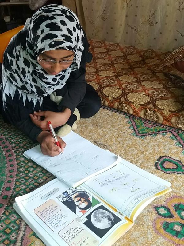 13-year-old Nada takes part in several afterschool activities run by the International Rescue Committee in northern Syria where she struggled to cope with trauma after being forced to flee her home.