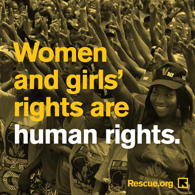 Women and girls' rights are human rights