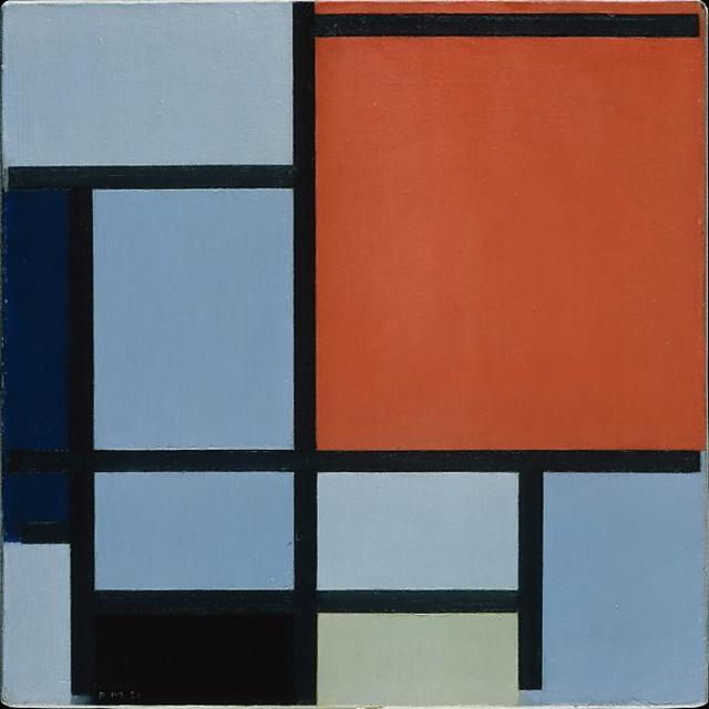 Piet Mondrian, Composition