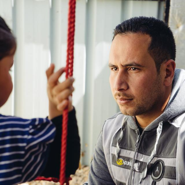Mohammad is unable to work since fleeing Syria - but desperate to support his family.