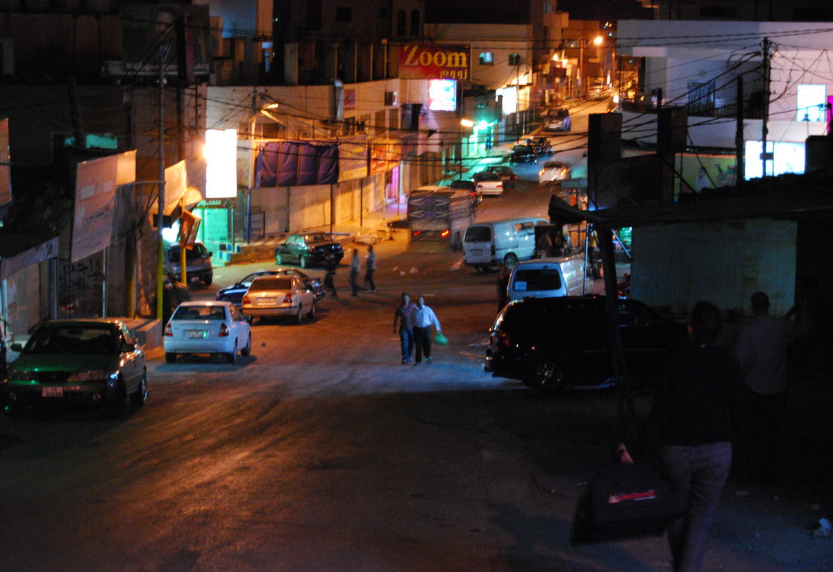 The city of Ramtha at night