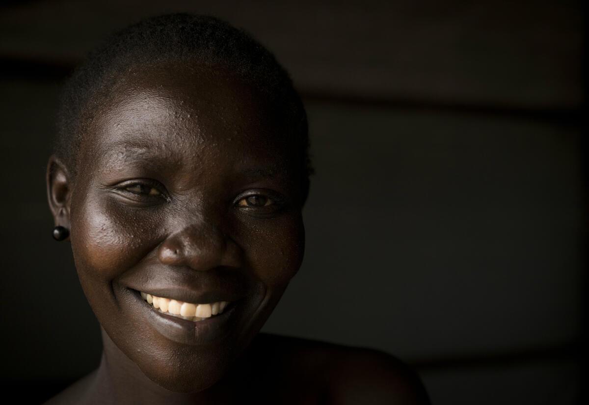 Lilian Dawa at Bidi Bidi refugee settlement, Uganda
