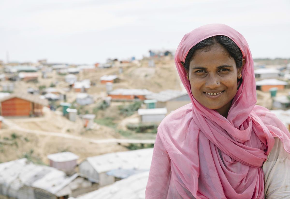 Community volunteer Fatima in Kutupalong refugee camp, in Bangladesh