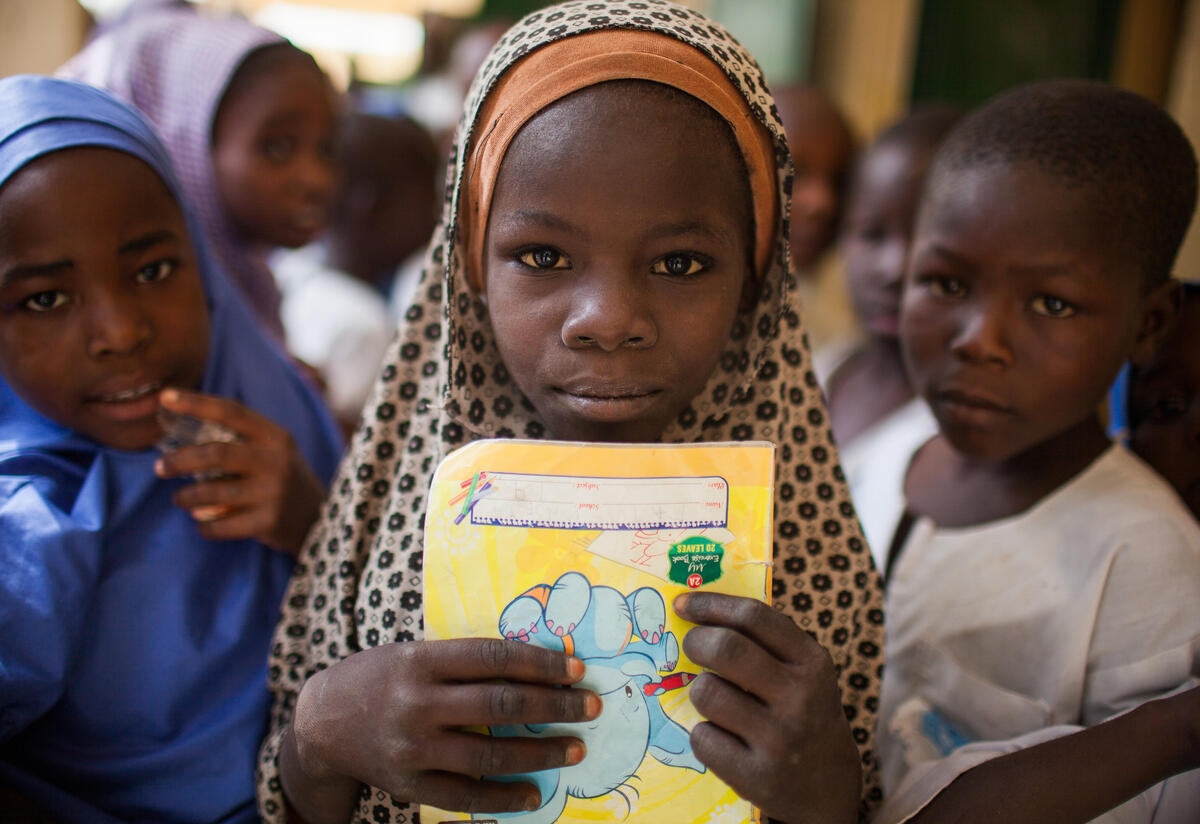 Girls inside  a classroom in Maiduguri, Nigeria