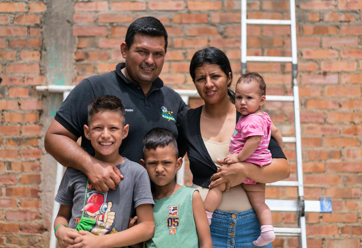 A young family who fled Venezuela