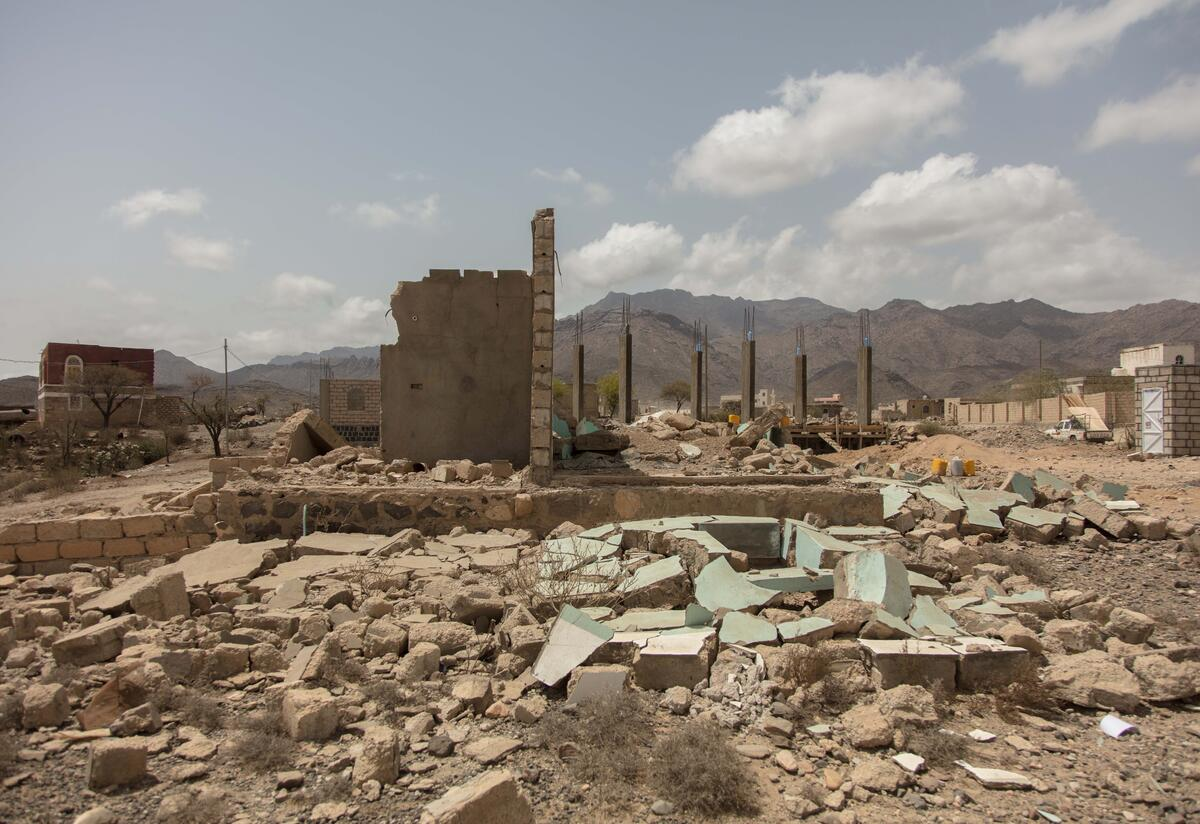 A house in Yemen, destroyed by the war