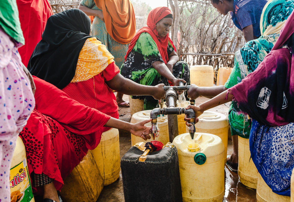 Refugee women in Dadaab collecting water Photo: Martha Adams