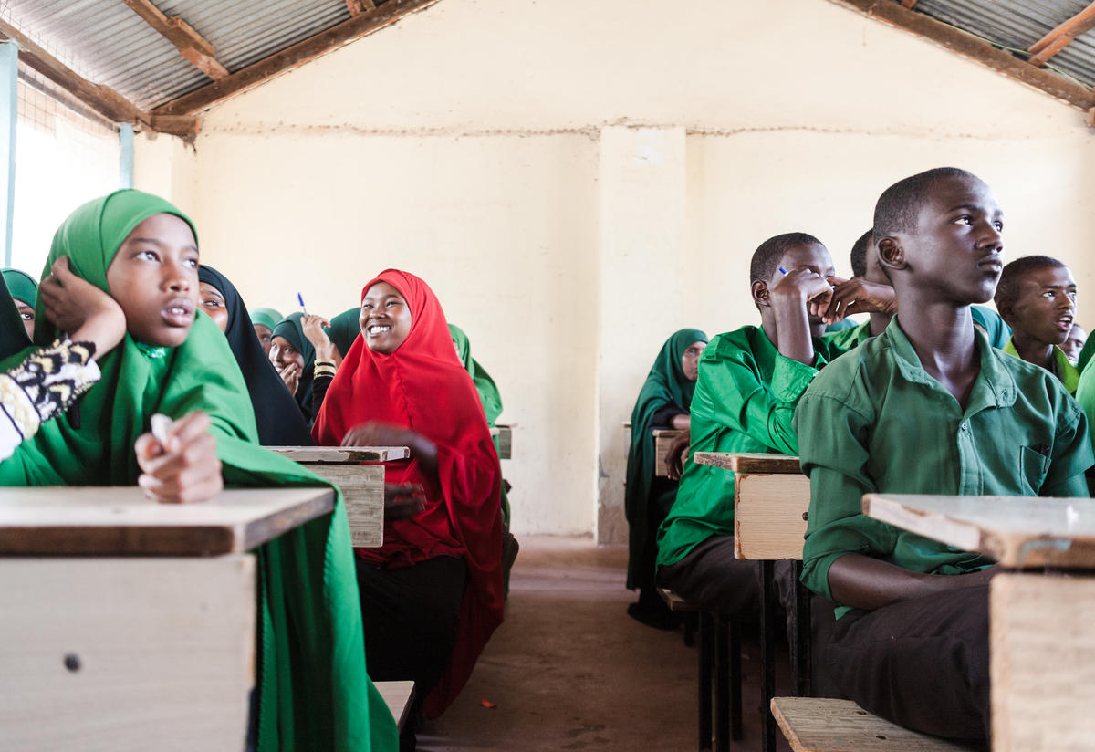 Nasro in a classroom in Dadaab refugee camp Photo: Martha Adams