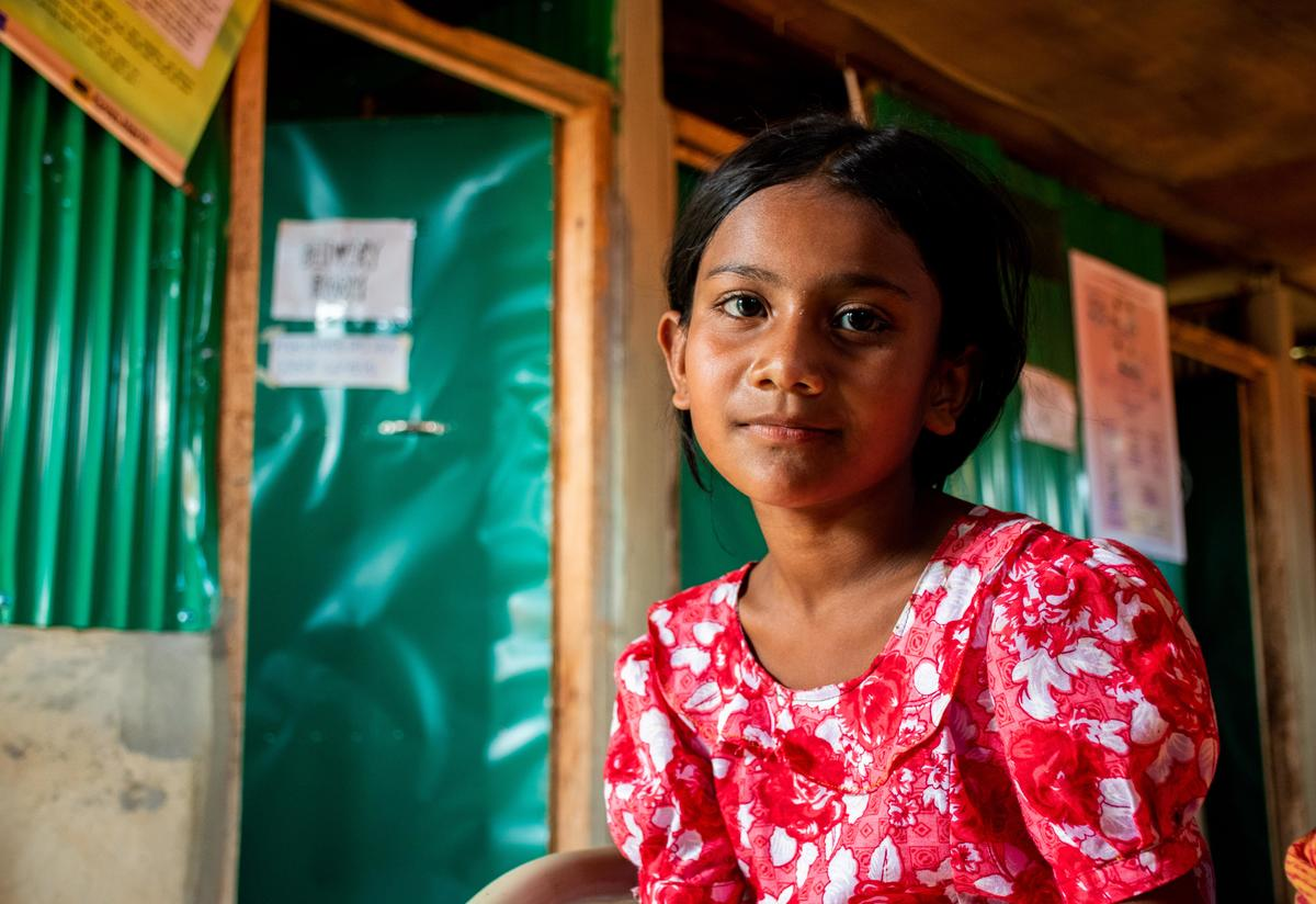 Rohingya girl in Cox's Bazar