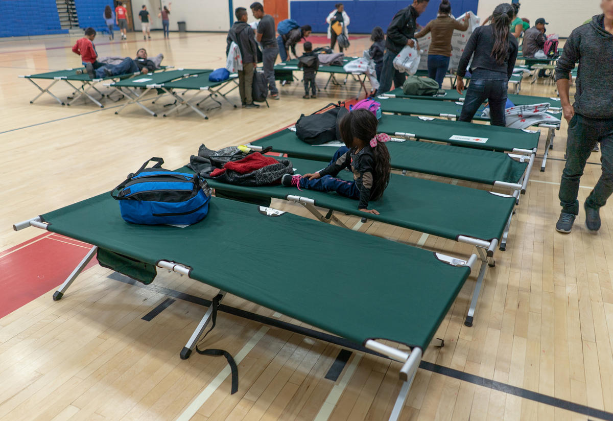 Overnight shelter for asylum seeking families in Phoenix