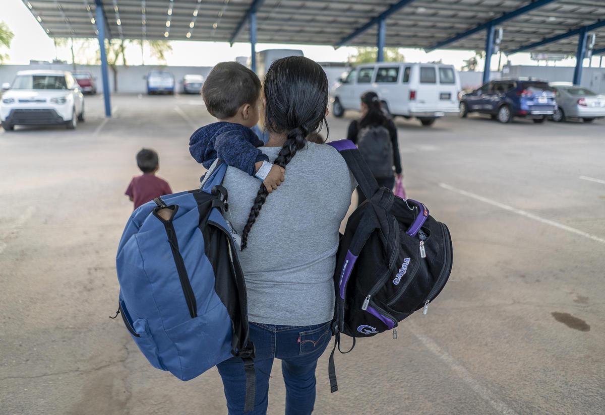 Asylum seeking family from Central America