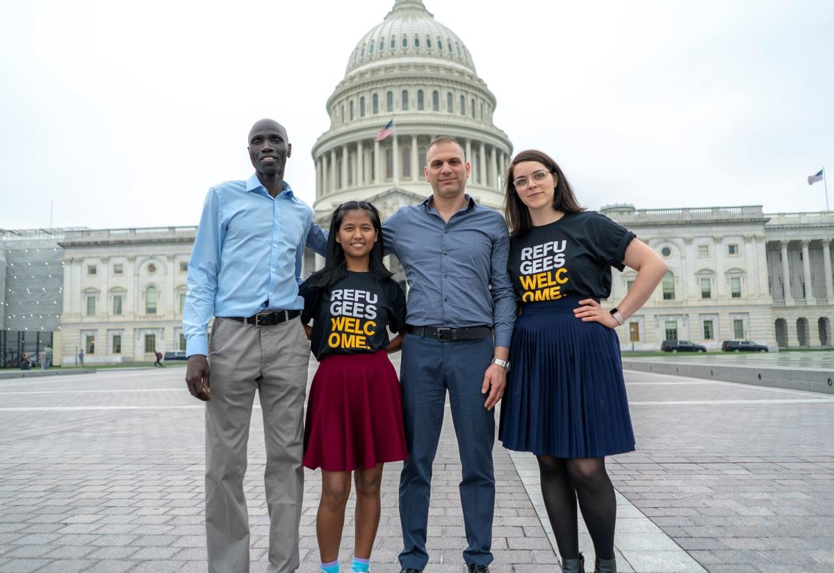 Members of the IRC's Refugee Voices program travel to Washington, DC