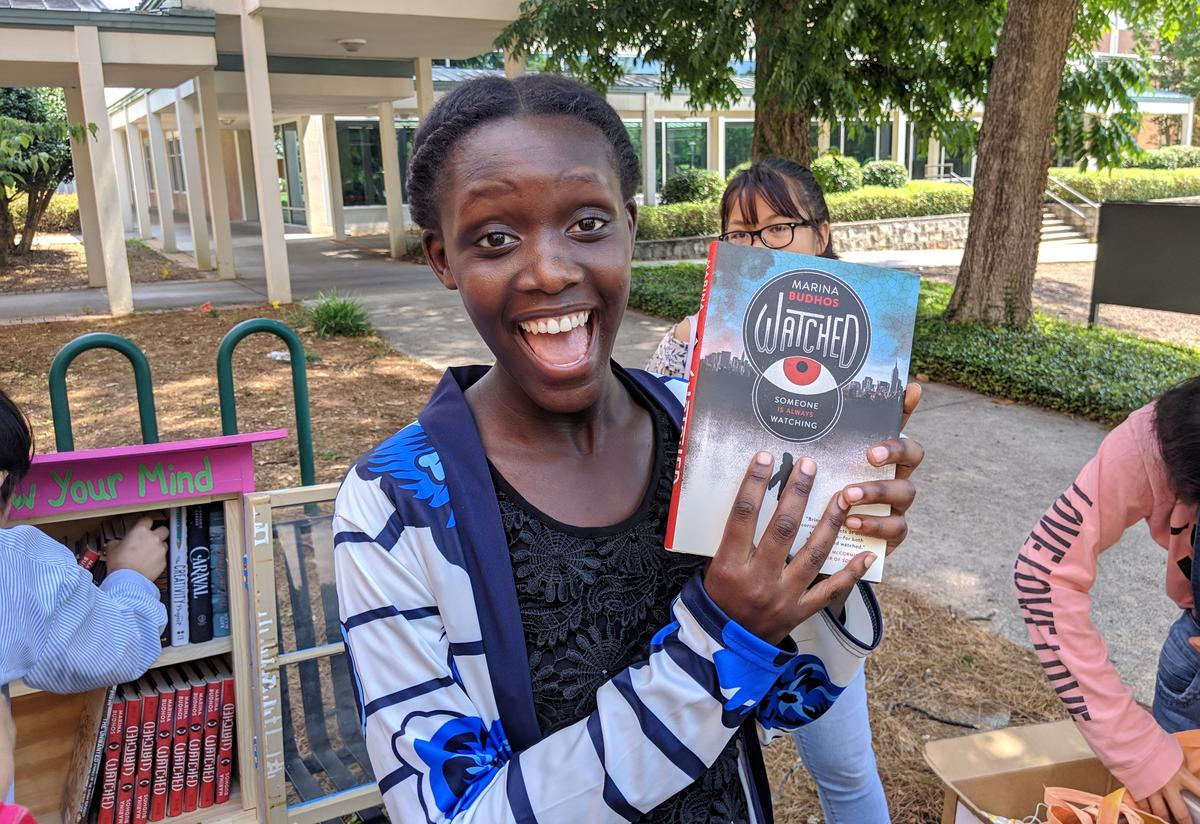 Students were thrilled with a generous donation of Young Adult Fiction novels from House of Speakeasy.