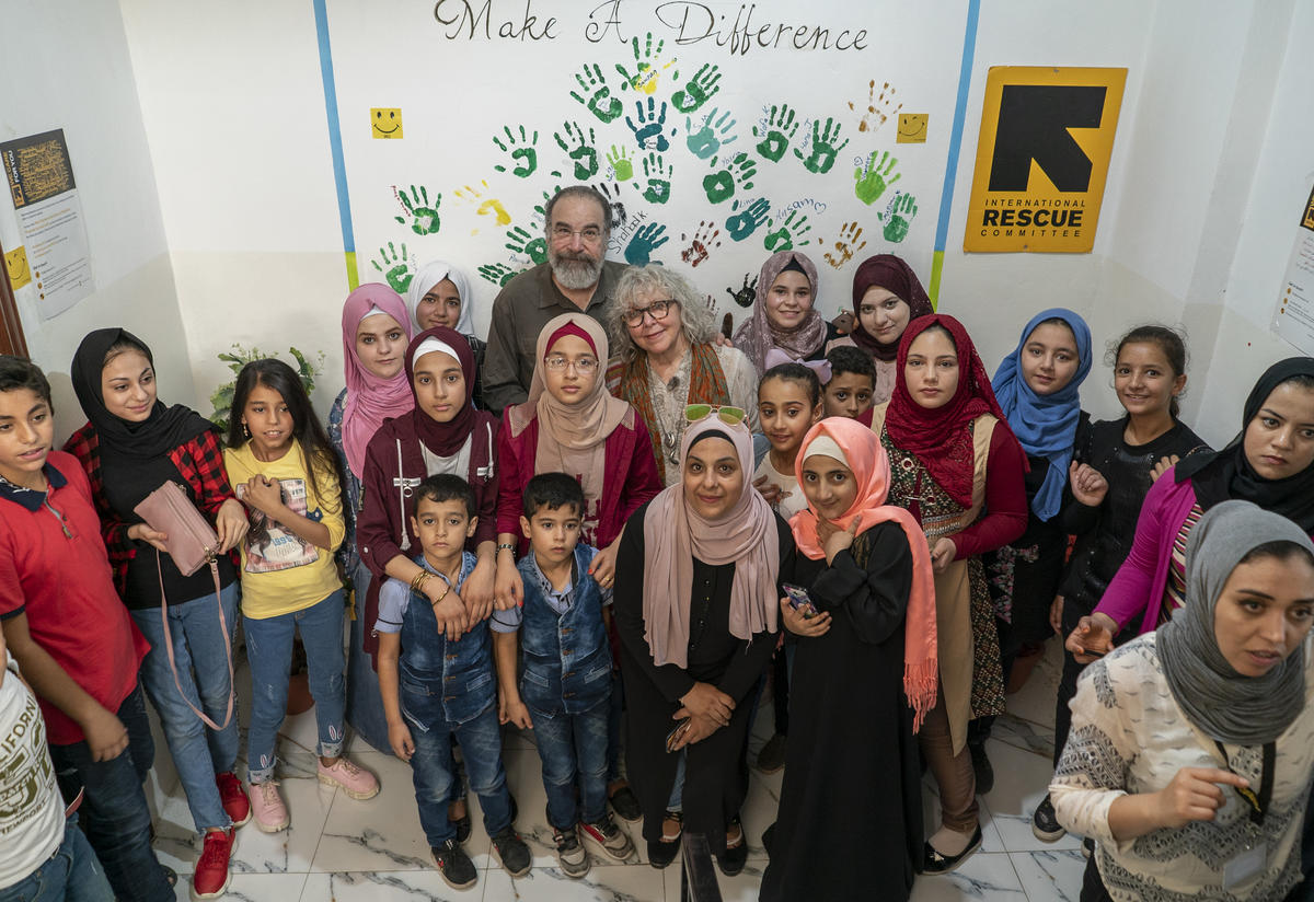 Mandy Patinkin at IRC women's center in Jordan