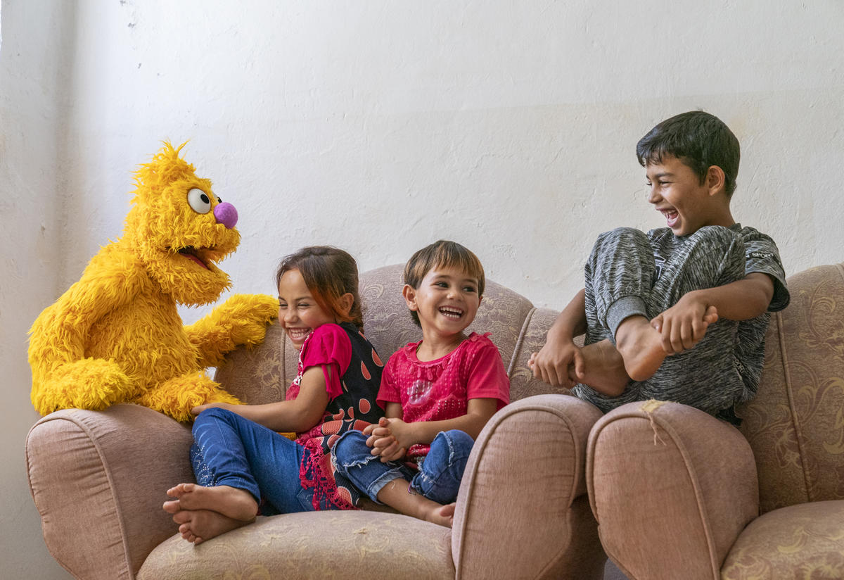 'Ahlan Simsim' features new Muppets with stories and experiences refugee children can relate to. Jad is a character who had to leave his home.