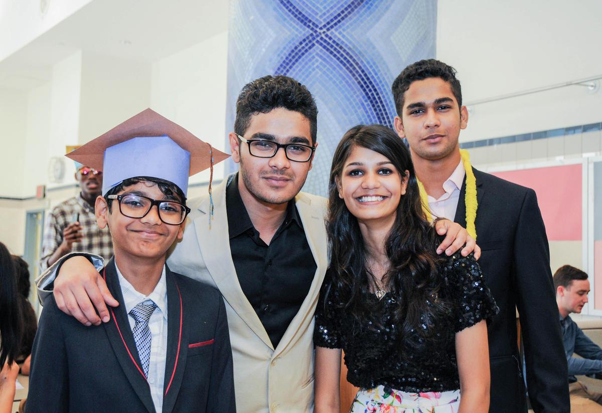 Zain with his family at RYSA