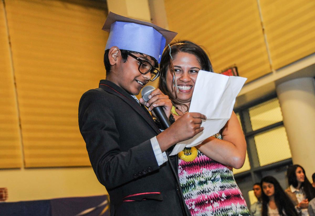 Zain gives a speech at RYSA