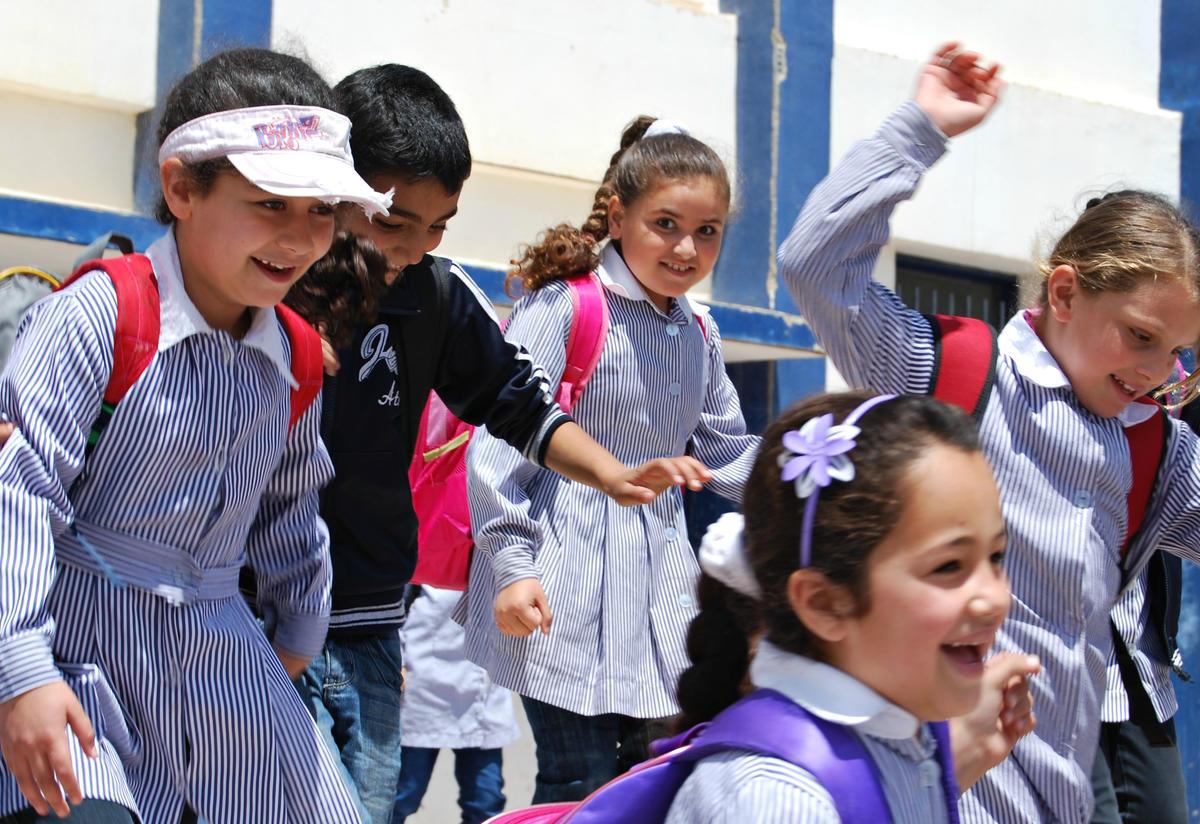 Children at IRC healing classroom West Bank