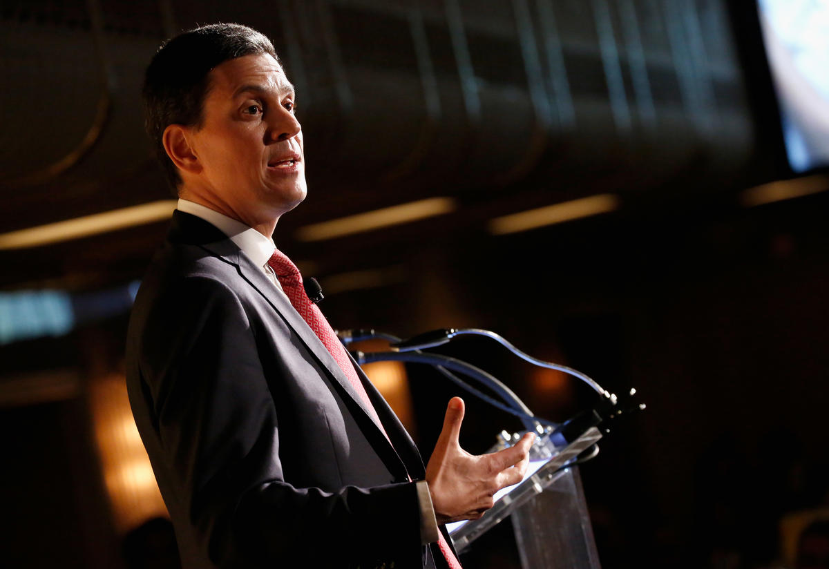 David Miliband at the International Rescue Committee's 2015 Freedom Award dinner