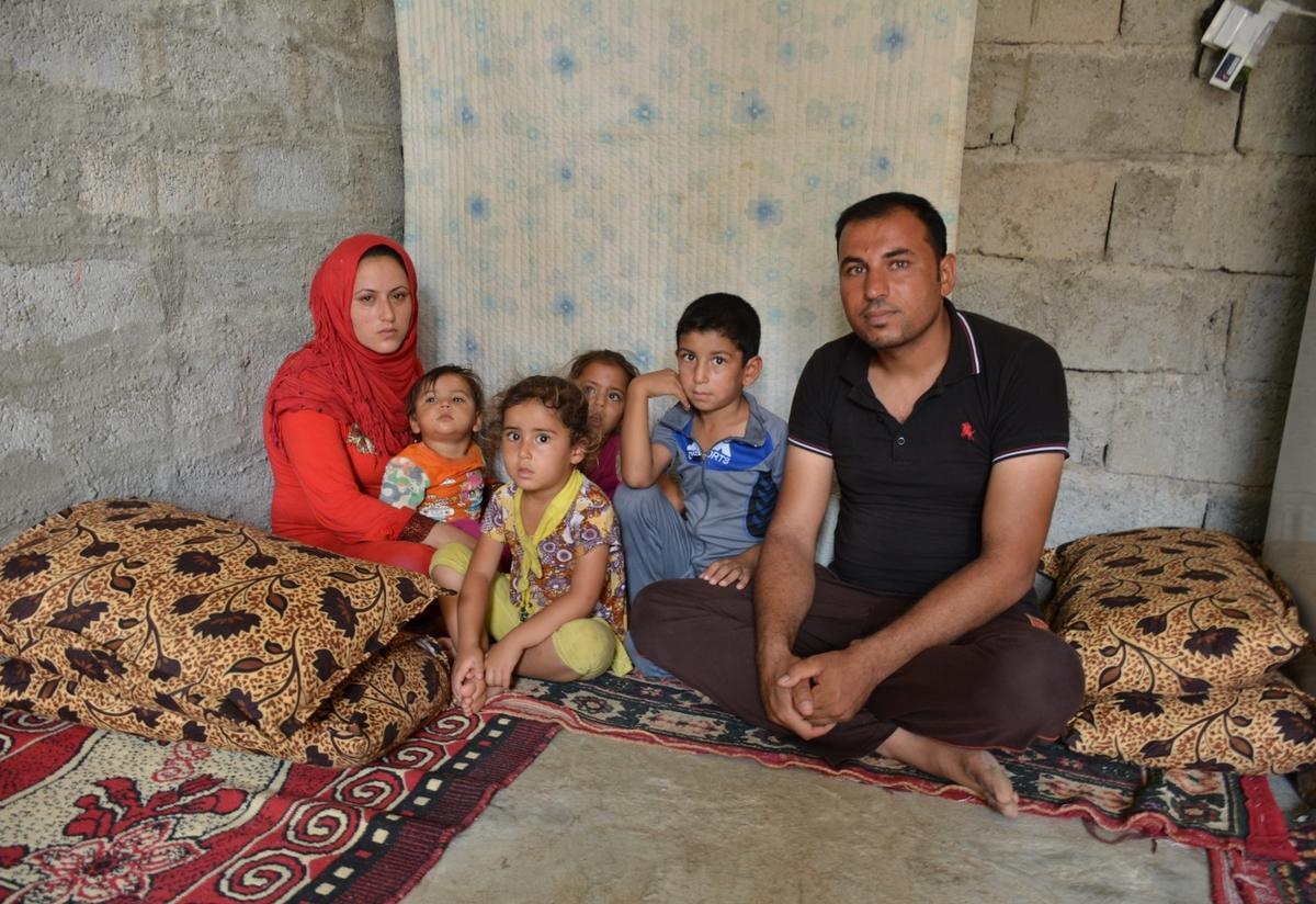 Displaced Iraqi family in Kirkuk