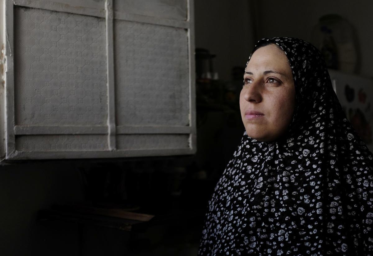 Syrian refugee woman in Ramtha, Jordan