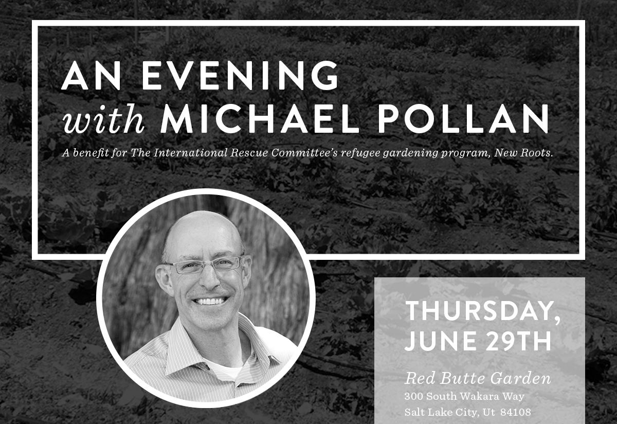 An Evening with Michael Pollan benefit for New Roots by Barebones