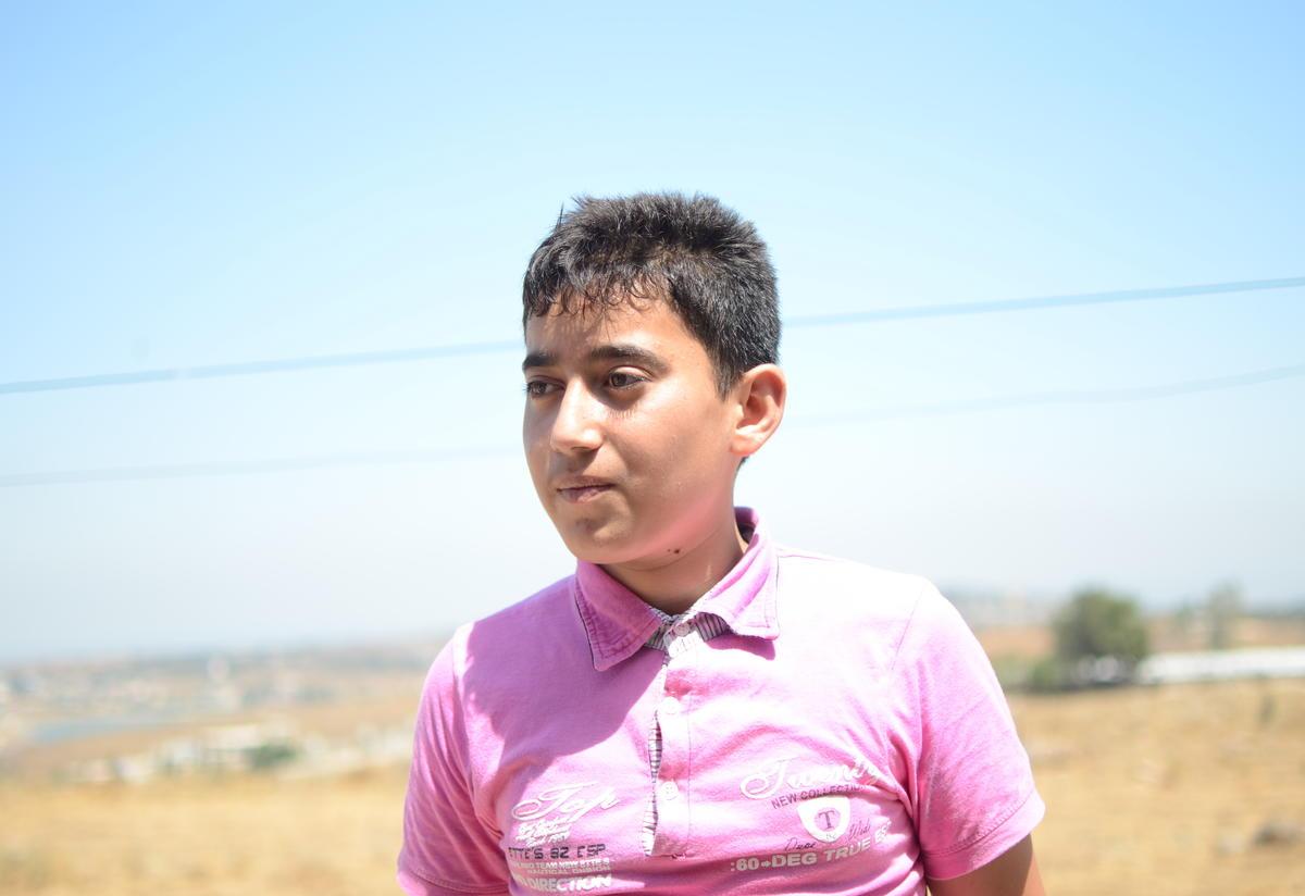 13-year-old Mahmoud in Akkar Lebanon
