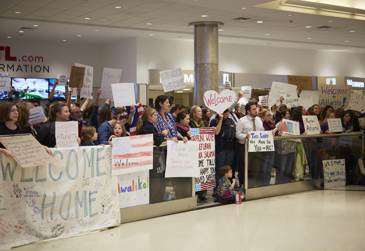 You showed up, said it loud and said it clear: Refugees are welcome here!