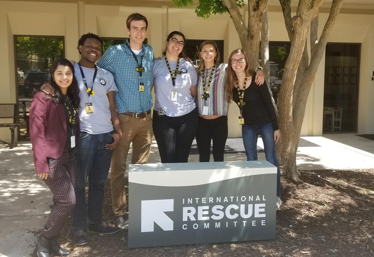Some of our wonderful AmeriCorps Members, from left to right:  Mimi, Joseph, Jacob, Emma, Talya and Caitlin.