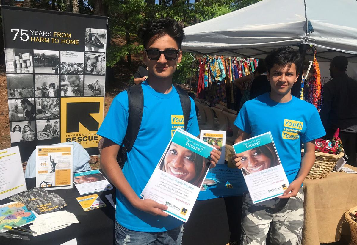 Edris and Mustafa spent the day sharing information and resources with community members.