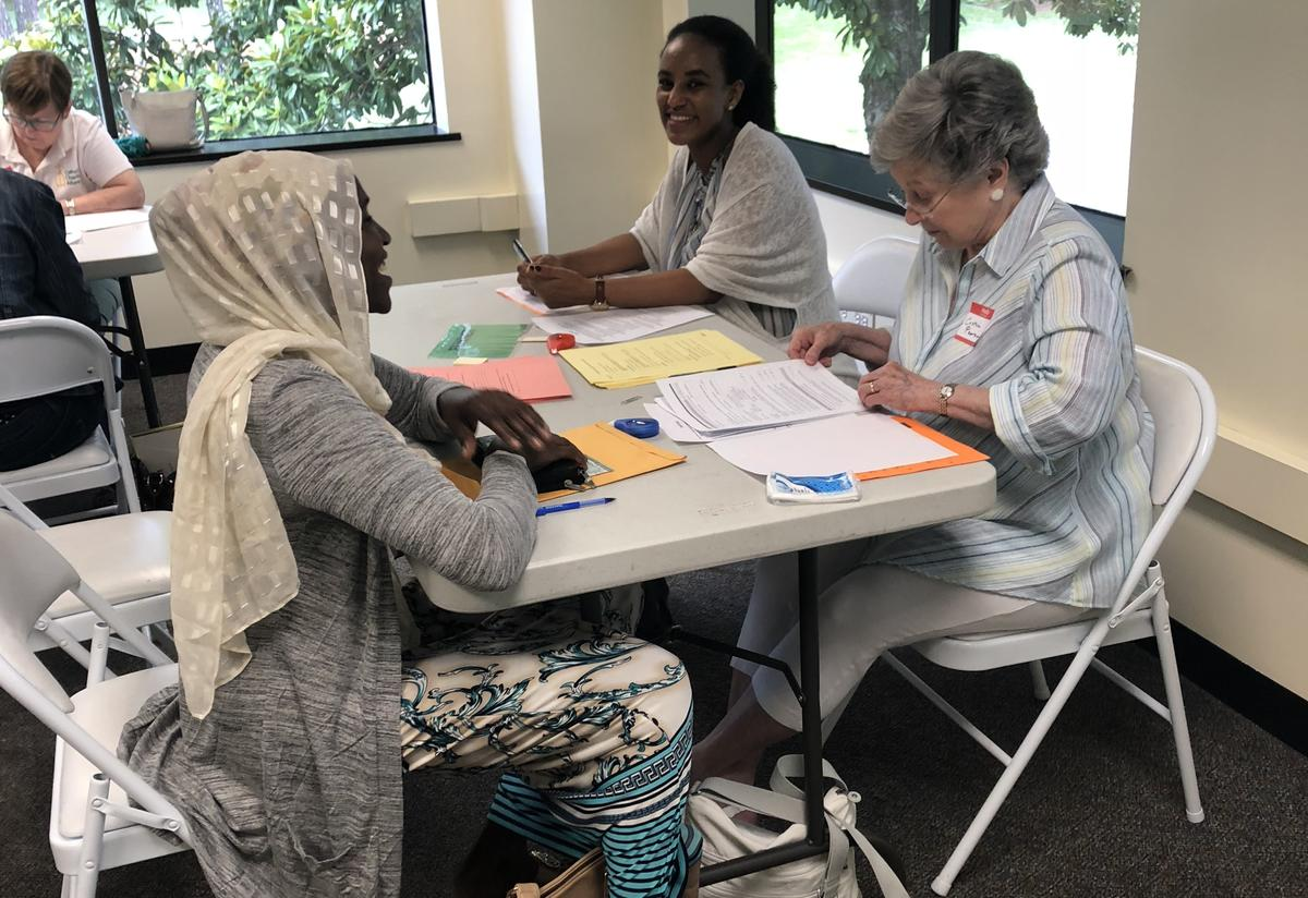 As well as receiving assistance with applications, attendees learned what to expect from the naturalization process.