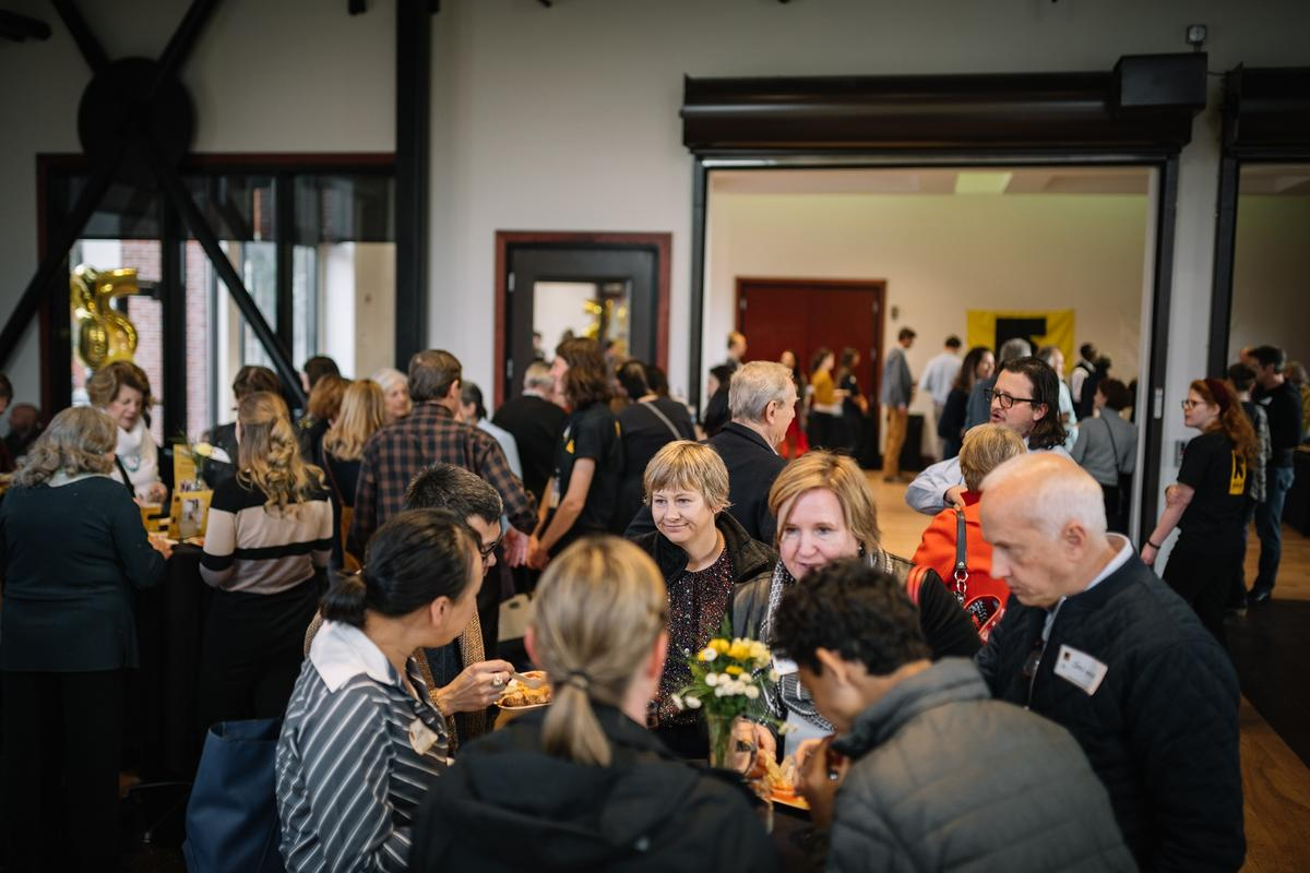 Party-goers learned about the International Rescue Committee in Salt Lake City throughout the years and showed their continued support of refugees