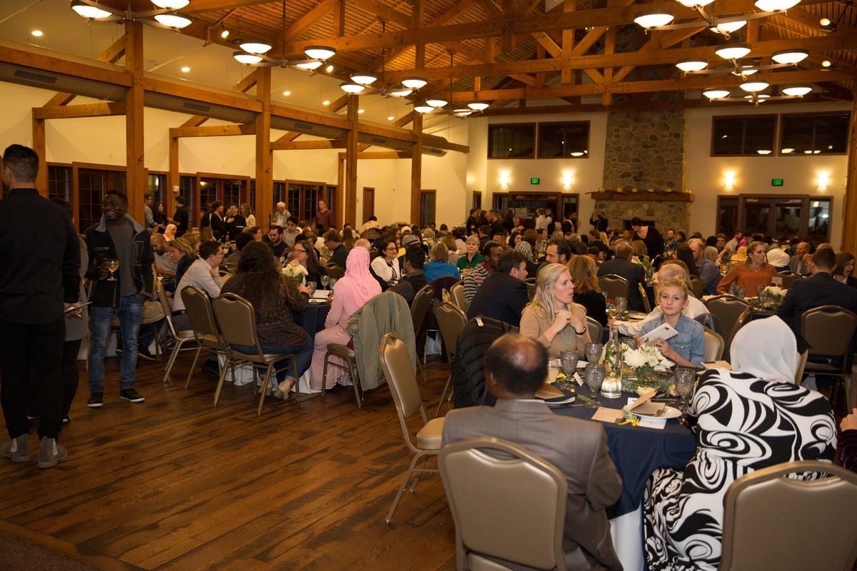 The Garden Place event space filled with nearly 250 community members and refugees
