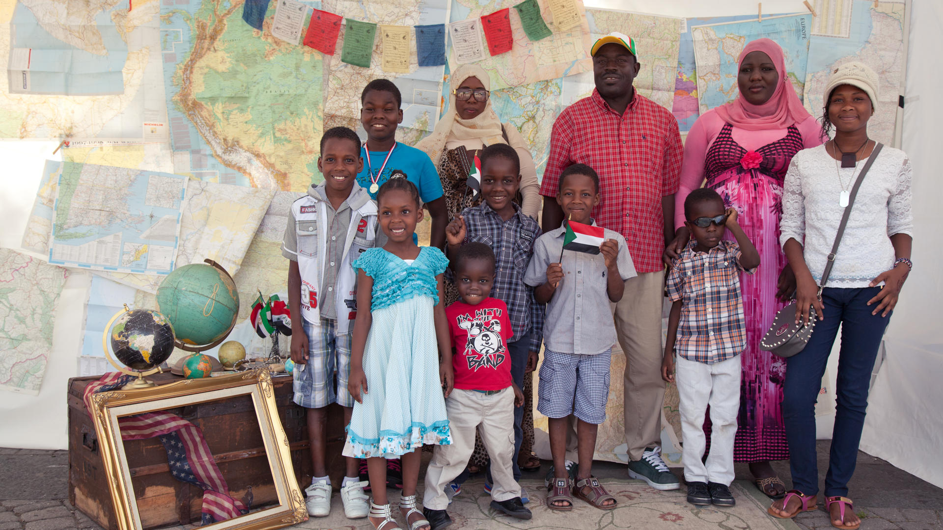 A newly arrived family from Sudan celebrates World Refugee Day in New Jersey.
