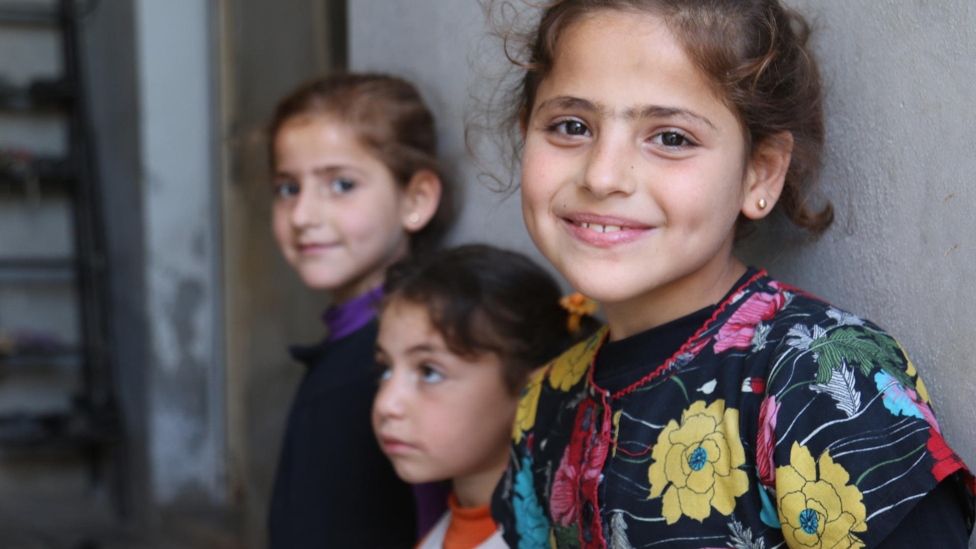 Young girls inside Syria