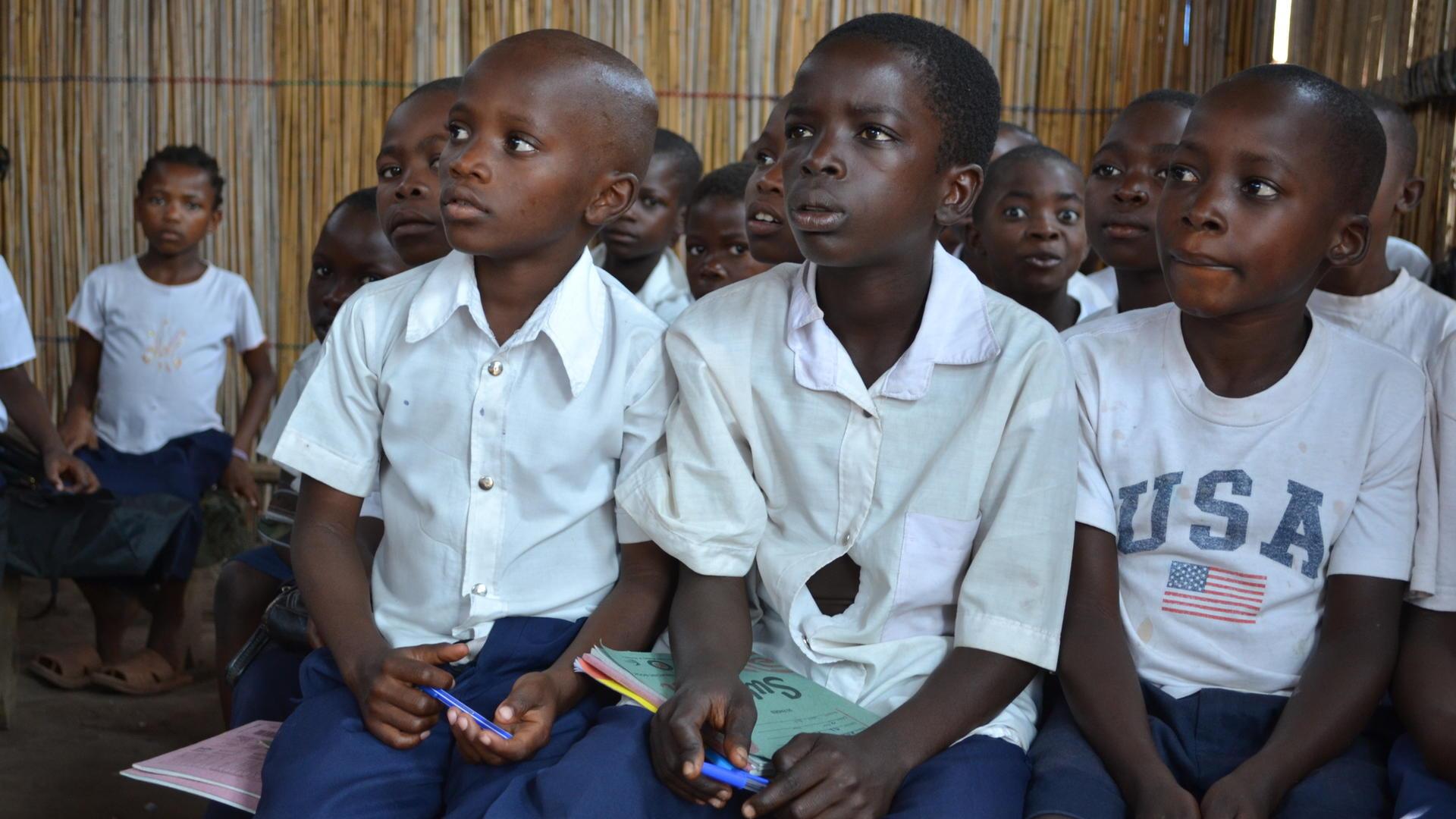 Congolese children at school