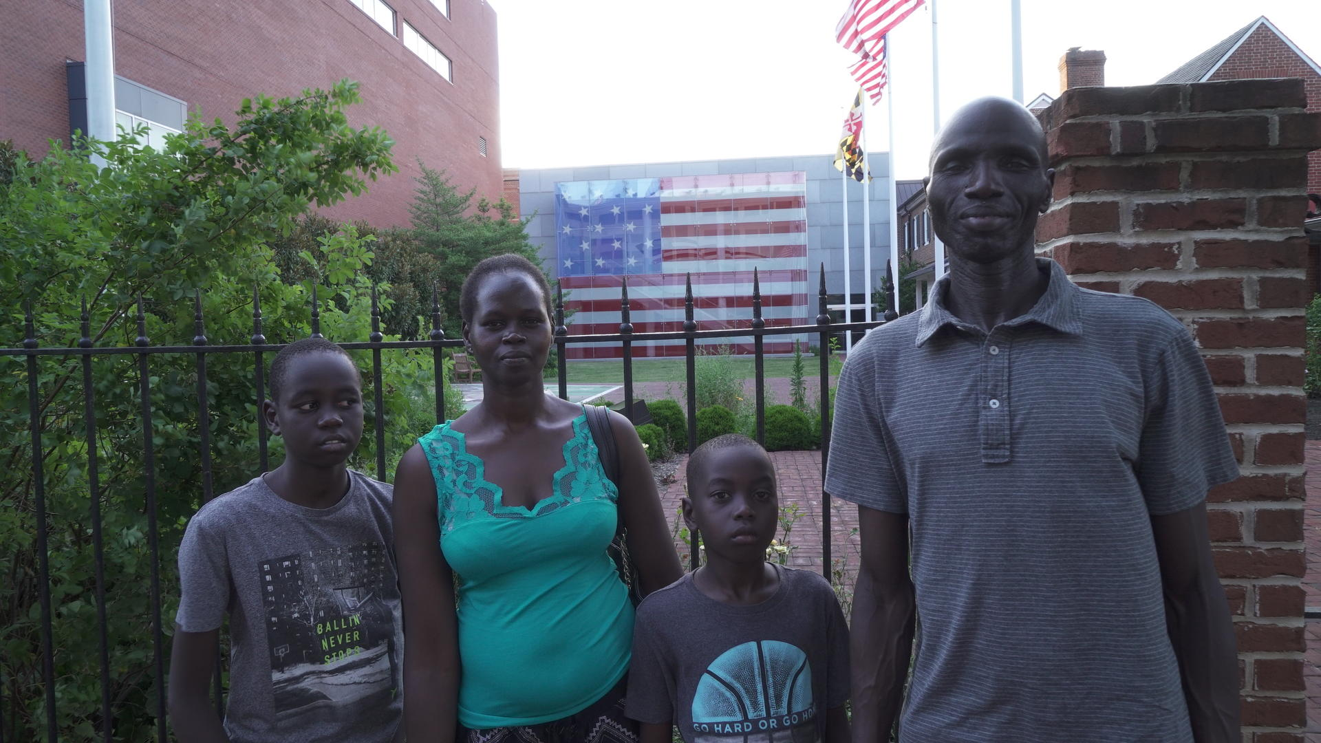 Timothy Cham and his family in Baltimore