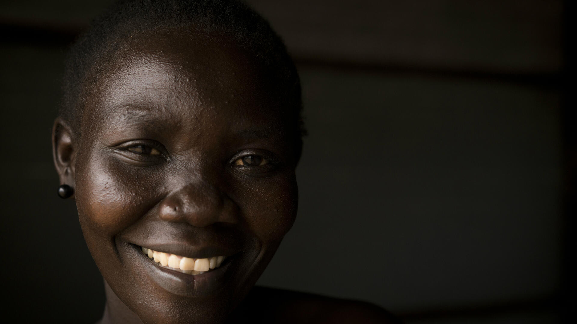 Lilian Dawa in Bidi Bidi, Uganda