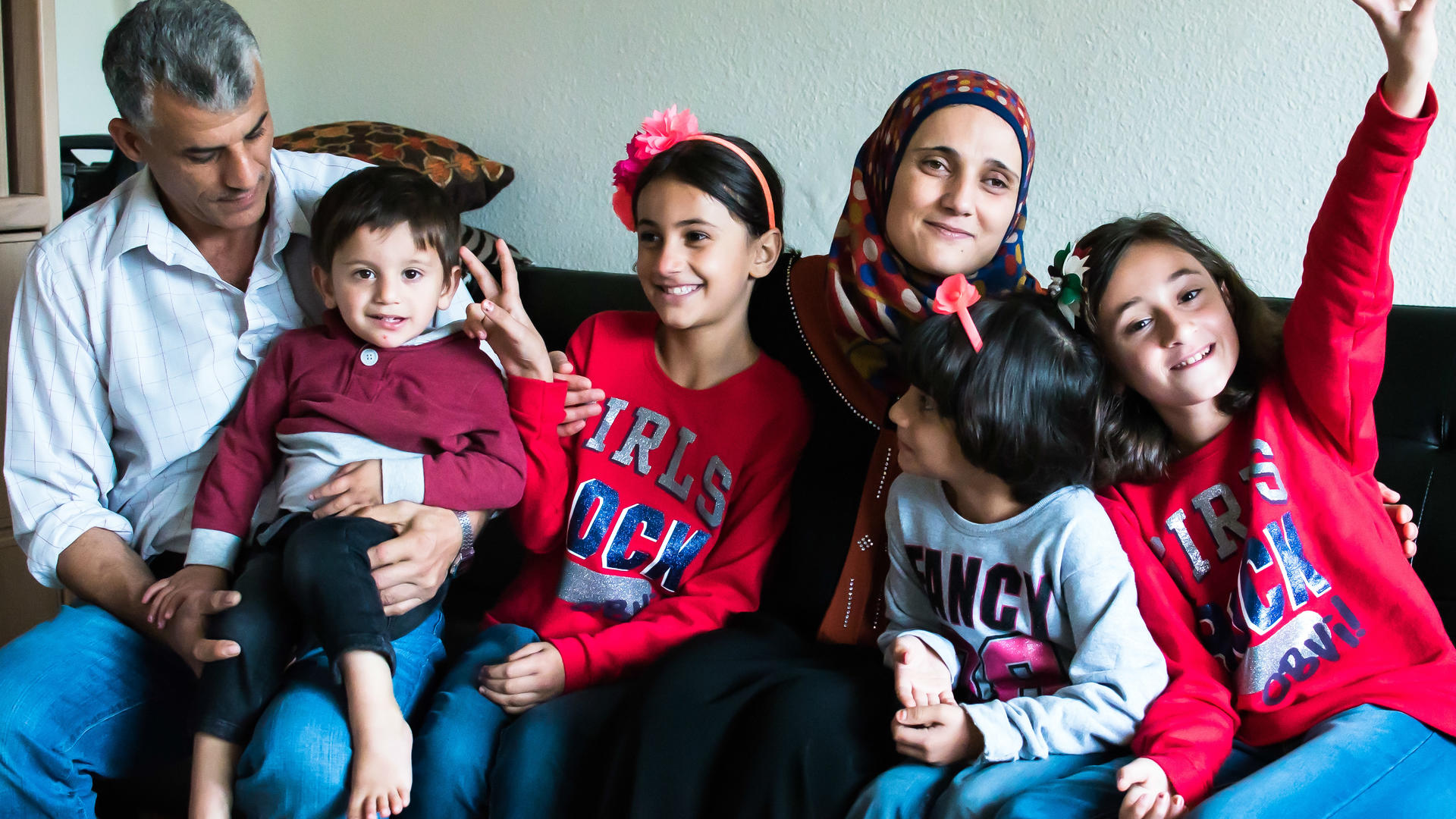 The Tlas family from Syria at home in San Diego