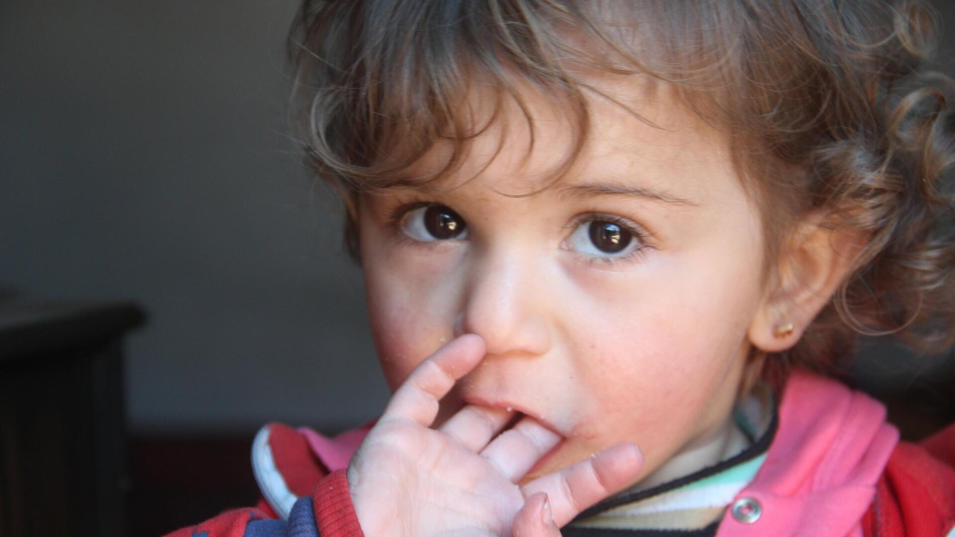 A Syrian girl in Dana, Idlib