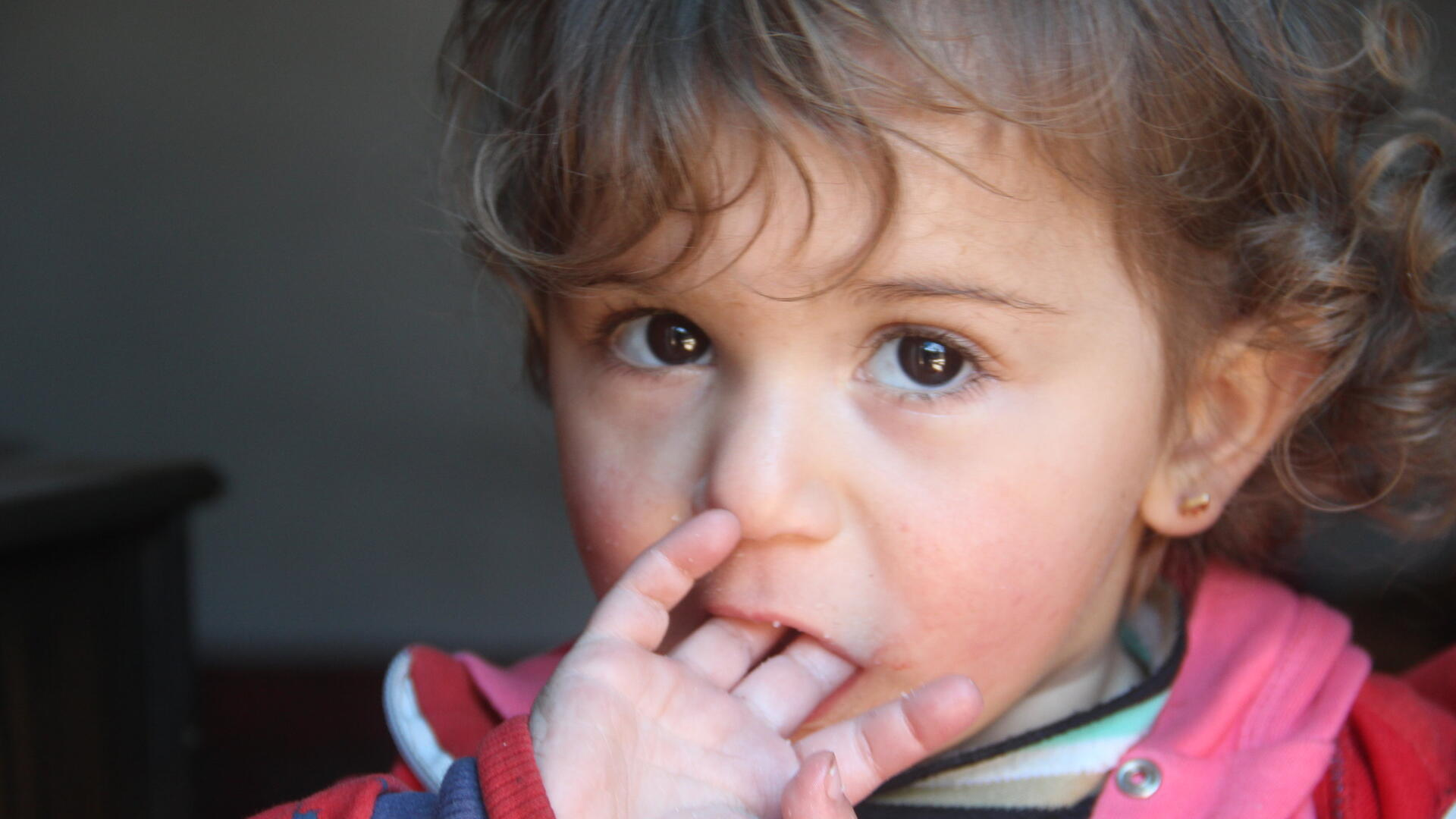 A Syrian girl in Dana, Idlib